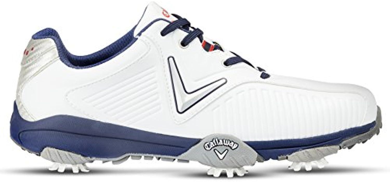 Callaway Chev Mulligan Zapatillas de Golf, Hombre, Blanco (White/Blue), 47 EU