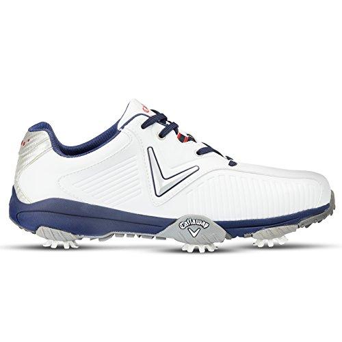 Callaway Chev Mulligan, Chaussures de Golf Homme, Blanc/Bleu, 46 EU