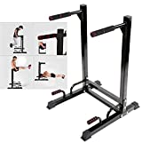 GOTOTOP Dip Station, Steel Dipping Knee Raise Station Stand for Home Gym Fitness