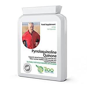 41MTQNW17CL. SS300  - PQQ 20mg 60 Capsules | Daily Pyrroloquinoline Quinone Supplement | UK Manufactured to GMP Standards