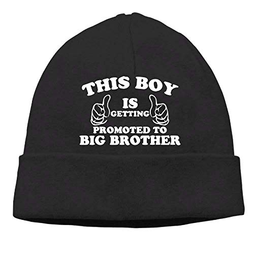 Preisvergleich Produktbild Momen's This Boy is Getting Promoted to Big Brother Fashion Street Dance Black Beanies Cap Hat