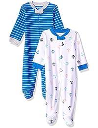 Amazon Essentials - Confezione da 2 tutine per neonati