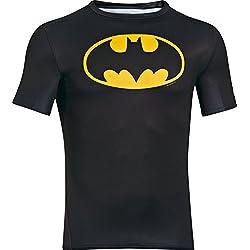 Camiseta de Compresión con logo de Batman, manga corta, Hombre, L