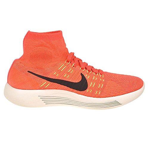 Nike Damen Wmns Lunarepic Flyknit Laufschuhe Naranja (Brght Crmsn / Blck-Hypr Orng-Vlt)