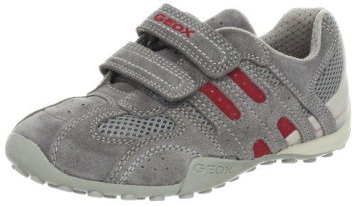 Geox J SNAKE BOY C J32G7C01422C0051, Sneaker ragazzo Grigio (Grau (GREY/RED C0051))