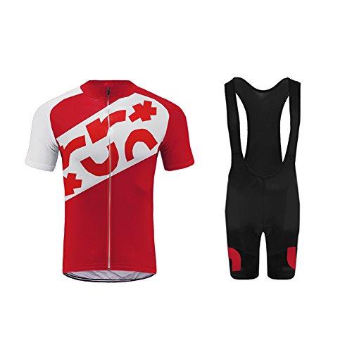 Uglyfrog Newest Bike Wear Radtrikot Set Herren Fahrradbekleidung Kurzarm im Sommer Radfahren Jersey + Latzhose Shorts Mix Size