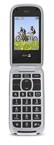 Doro PhoneEasy 613 Mobiltelefon im eleganten Klappdesign (2 Megapixel Kamera, große Tasten und Display, Notruftaste) silber