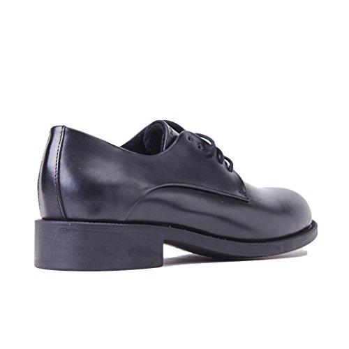 Semelle extérieure en caoutchouc de cuir verni FRAU 98P1 chaussures noires femme derby lisse Nero