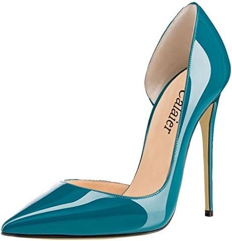 Calaier Mujer Cabecause Tacón De Aguja 12CM Sintético Ponerse Zapatos de tacón
