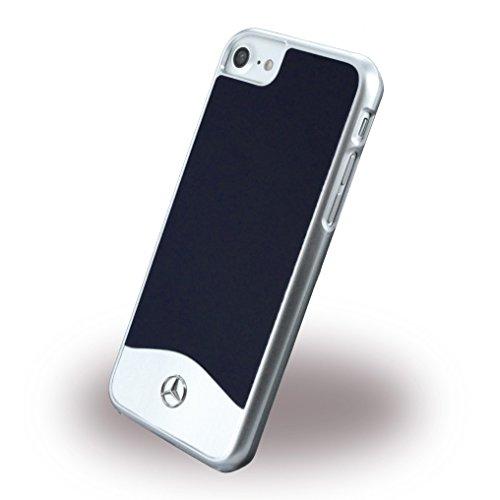 Mercedes MEHCP7CUALGR Glossy PC mit Metallic-Effekt Plus Gebürstetes Aluminium Hart Schutzhülle für Apple iPhone 7 tenorite abyss blau