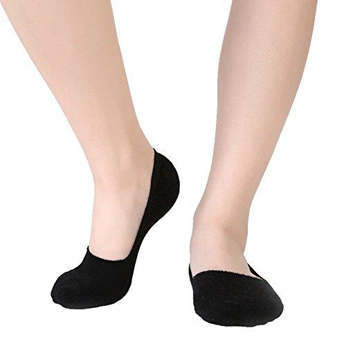 Swallowuk Frau Stealth Socken, gekämmte Baumwolle Webstuhl Boden flachen Mund Socken (schwarz)