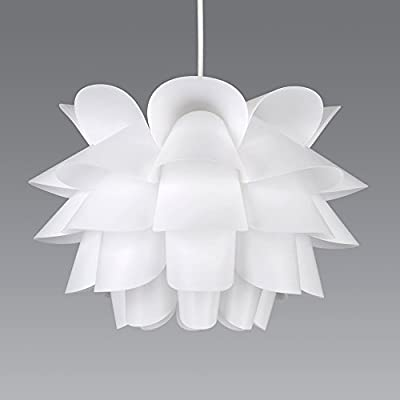 Modern Intricate Design White Ceiling Pendant Light Shade - Read Reviews
