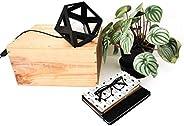 Petite lampe Origami noir - Leewalia - lampe de chevet - lampe d'appoint - lampe de