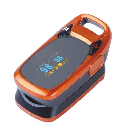 Herbie Life® HL-70C Dedo Oxímetro de Pulso - Naranja