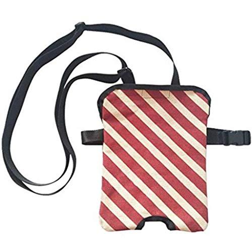 Hcwlxjy Kit di incontinenza con catetere urinario Borsa per Il drenaggio degli Anziani Pacchetto di Cura Borsa per drenaggio siliconica Anti-allergica Kit di Cura per Sacchi per stomia,Red,1000ml