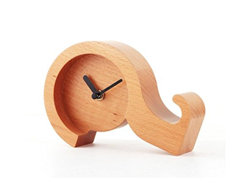 DD Horloge Créative En Bois, Bureau En Bois Massif, Interrogation, Horloge , B,B