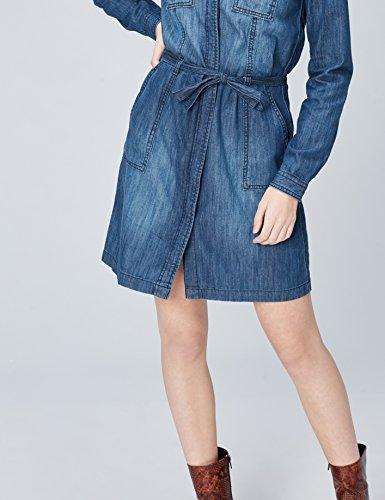 FIND Damen Kleid Blau (Blue)