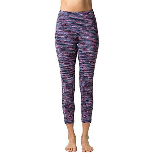 Lucky Mall Frauen Schnell Trocknende Yogahose für Das ganze Jahr hindurch, Sommer Sporthosen mit Hoher Taille Bequemes Elastische Fitnesshose Mode Sportbekleidung Laufhose Leggings Trainieren -