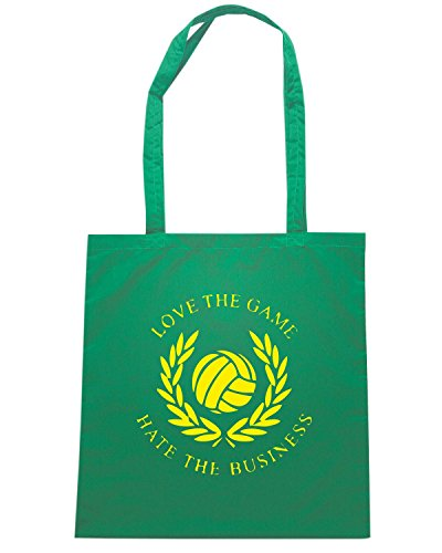 T-Shirtshock - Borsa Shopping TUM0126 love the game hate the business Verde