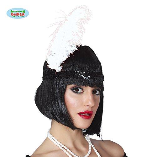 Guirca Piuma Bianca cm30 Travestimento Donna Uomo Carnevale Charleston Halloween Teatro