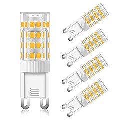 Lampada G9 LED 5W Luce Fredda, 5W Equivalente Alogena 50W, Bianco Fredda 6000K, 500LM, Lampadine LED G9 a 360 Gradi Luci, AC 220-240V, non-dimmerabile, per Lampadario, Lampade da Parete