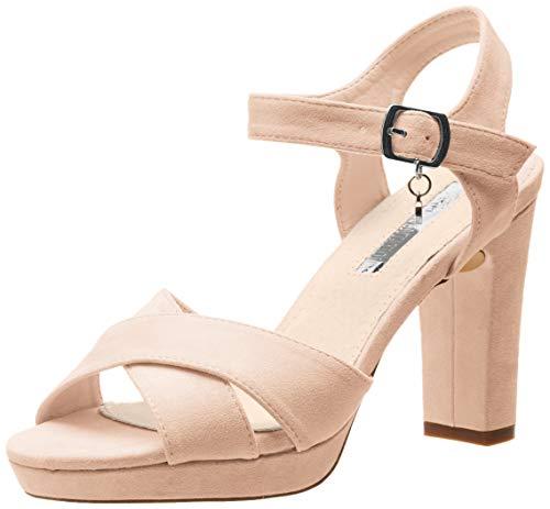 XTI 32035, Zapatos Tira Tobillo Mujer, Rosa Nude
