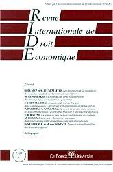 Revue internationale de droit économique, janvier 1999