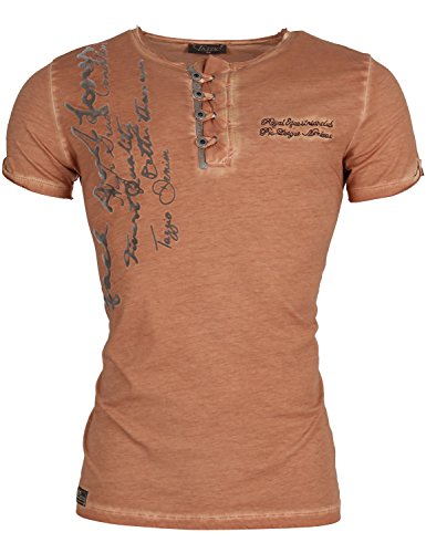 Tazzio Herren T-Shirts Shirt Hellbraun Größe Small