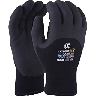Warm Outdoor Thermal Work Gloves, UCI Icetherm Gloves, All Sizes 7-10 (UK 8 Medium X 1 Pair)