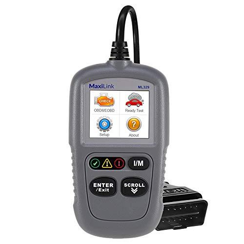 Autel ML329 OBD2-Diagnosegerät für VW BMW Audi Mercedes etc, 3 Sprache (Deutsche inkl.) verfügbar, KFZ-Auslesegerät Software Free Update, OBD Verlängerungskabel inkl. Dieselmotor kompatibel