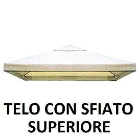 3x4 Roma Tetto per Gazebo da Giardino Esterno mt 3x3-3x4-3x2 parpyon/® Telo Ricambio Gazebo 3x4 Copertura in Tessuto Poliestere 100/% Vari Modelli Colore Beige arredo Giardino
