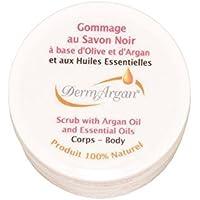 Black Soap with Organic Argan Oil. Body Scrub, Skincare for