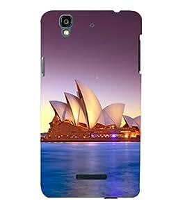 printtech Lotus Australia Building Back Case Cover for YU Yureka::Micromax Yureka AO5510