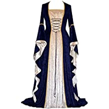 9fe6c54b706e ZhuiKunA Donna Vintage Rinascimentale Medievale Abito