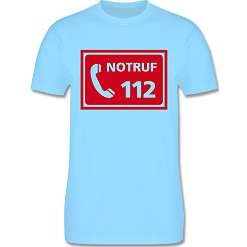 Feuerwehr - Feuerwehr - Notruf - Herren Premium T-Shirt Hellblau