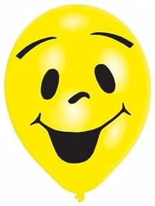 Amscan lot de 8 ballons de baudruche smiley 25,4cm