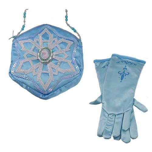 Disney Authentische Kostüm - Princess Handschuhe und Handtasche Set - ELSA of Frozen (Authentische Disney Kostüm)