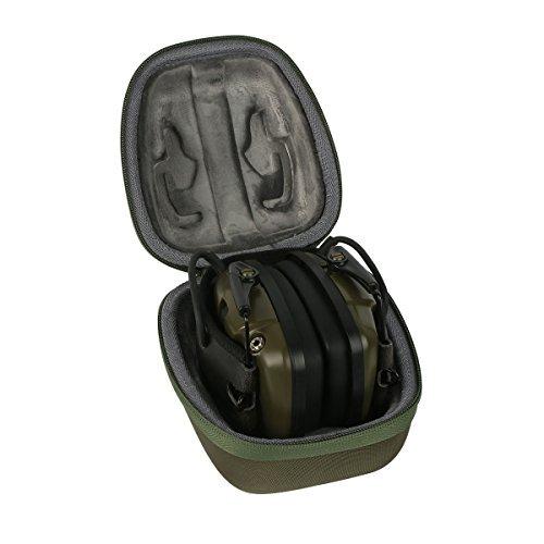 für Howard Leight - Impact Sport - Aktiver Gehörschutz ideal für Jäger, sehr flach, faltbar SNR 25 hart Reise Lagerung Tragen Taschen Hülle von co2CREA