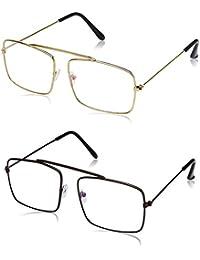 Criba Anti-Reflective Square Unisex Sunglasses - (Gold Black|50|Wh Color)