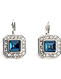 Duchess Blue Alloy Drop Earrings For Girls And Women By The Cats Pajama