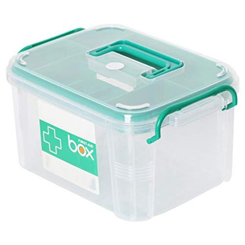 Lxrzls cassetta di medicina domestica cassetta di sicurezza doppia cassetta di pronto soccorso cassetta di sicurezza for prodotti medici cassetta di pronto soccorso in plastica (size : 20.5x34x24cm)
