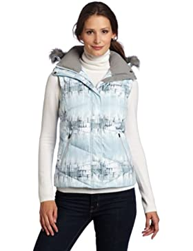 Columbia Lay 'D' Down de la mujer chaleco, mujer, Ice Grey Mineral Rock Print