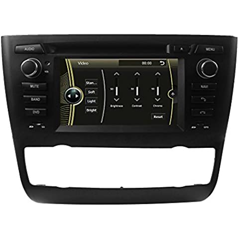 LIKECAR 6,2 Zoll AUTO GPS Navigation DVD Stereo Autoradio für BMW E81 1 Series (2004-2012) Door Hatchback, E82 1 Series (2004-2012) Coupe, E87 1 Series (2008-2012) 5Door Hatchback , E88 1 Series (2004-2012) Convertibl automatic air conditioning + heated seat mit HD Touchscreen WinCE 6.0 800MH 256 MB Lenkradsteuerung Navigation iPod 1080P Bluetooth USB RDS Dual Zone Deutsch