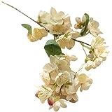 Sanysis Flores de cerezo flores artificiales colgantes (Beige)