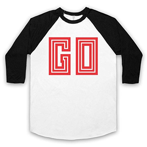 Inspiriert durch Moby Go Unofficial 3/4 Hulse Retro Baseball T-Shirt Weis & Schwarz