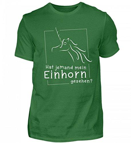 Shirtee Hochwertiges Herren Premiumshirt - Wanted - Hat Jemand Mein Einhorn Gesehen? Das Shirt für Alle Einhorn-Fans, Die Ihr Einhorn Gerne Mal verlegen : Irish Green