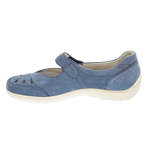 WALDLÄUFER HENNI 496302191094 femmes Mocassins, Bleu - Bleu