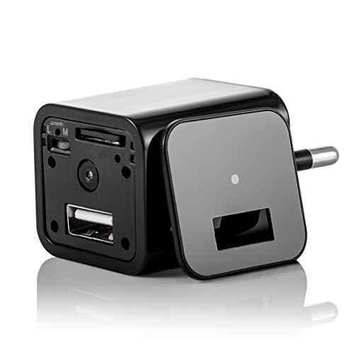 Versteckte Kamera mit Bewegungsmelder die Ladegerät Attrappe hat eine integrierte Full HD 1080P Überwachungskamera welche Videoaufnahmen inkl. Ton tätigt (Inkl. 32GB SD-Karte)