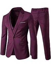 1582e8db5 Trajes para Hombres 3 Piezas Elegante Traje de Estilo Occidental Blazer  Chalecos y Pantalones