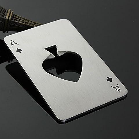 Poker Playing Card Ace of Spades Bar Tool Soda Beer Bottle Cap Opener